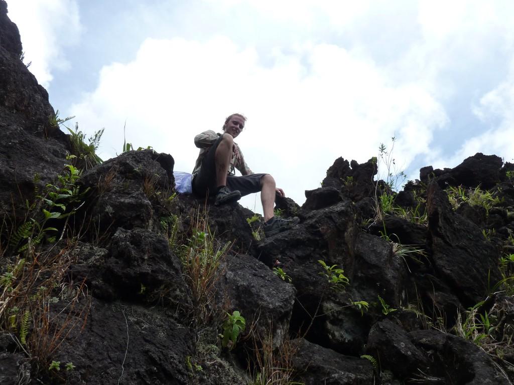 Luis vor dem Abstieg
